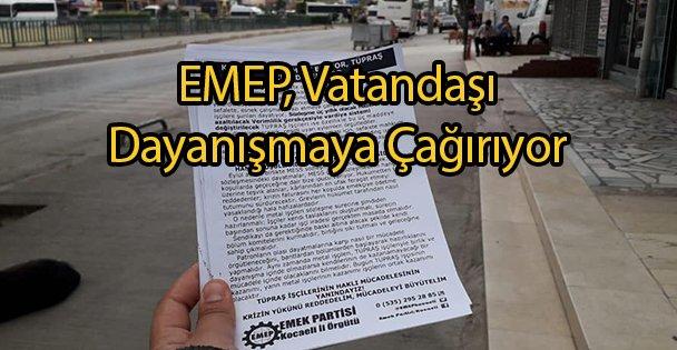 EMEP, Vatandaşı Dayanışmaya Çağırıyor