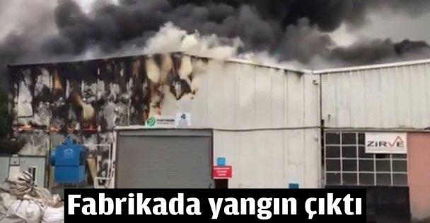 Fabrikada yangın paniği