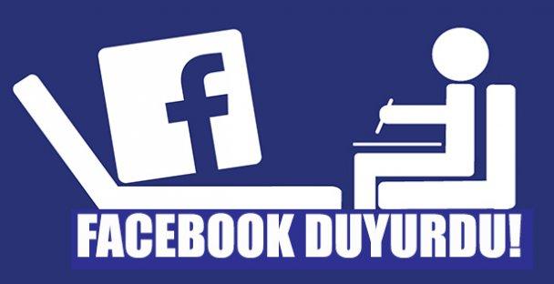 Facebook Duyurdu!