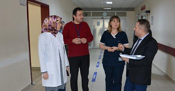 Farabi Devlet Hastanesi'nde denetim