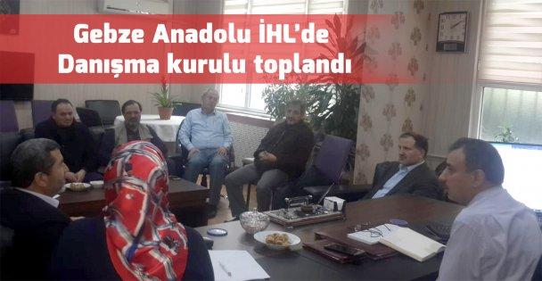 Gebze Anadolu İHL Danışma Kurulu Toplandı