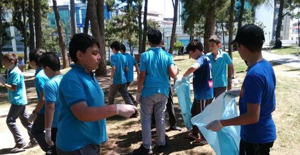Gebze İ.H.L. Öğrencilerinden temizlik kampanyası