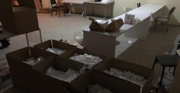 Gebze'de 15.000  kaçak maske yakalandı