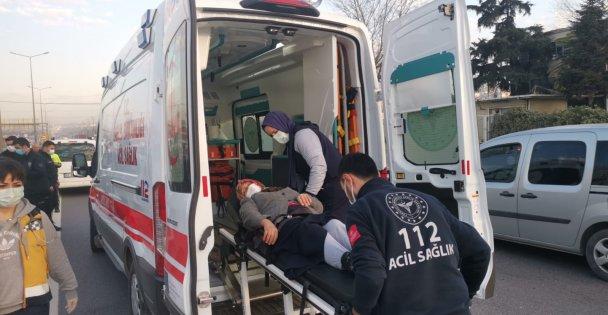 Gebze'de hafif ticari aracın çarptığı yaşlı kadın yaralandı