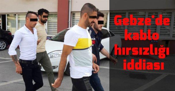 Gebze'de kablo hırsızlığı iddiası