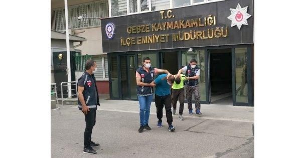 Gebze'de kombi çalan hırsızlar İstanbul'da yakalandı