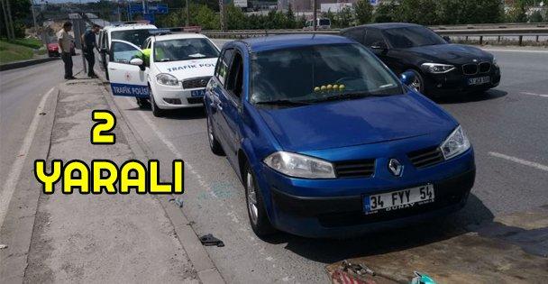 Gebze'de otomobilin çarptığı 2 kişi yaralandı