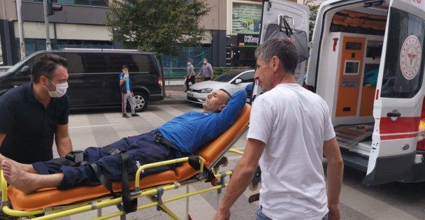 Gebze'de otomobilin çarptığı kişi yaralandı
