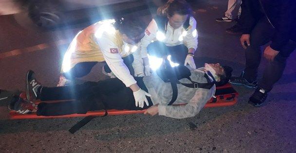 Gebzede taksiyle çarpışan bisiklet sürücüsü yaralandı