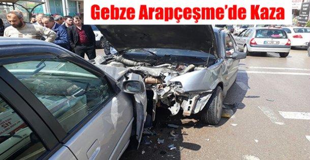 Gebze'de Trafik Kazası !