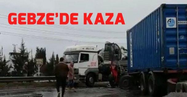 Gebze'de trafik kazası