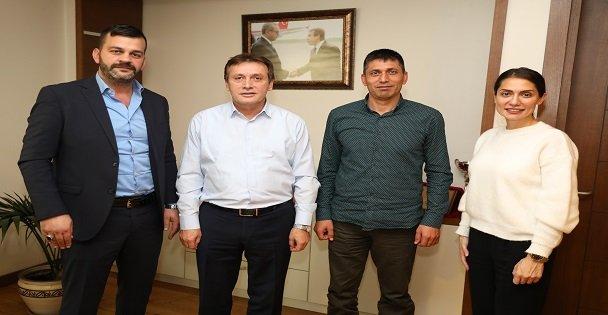 Halisdemir'den Başkan Demirci'ye Ziyaret