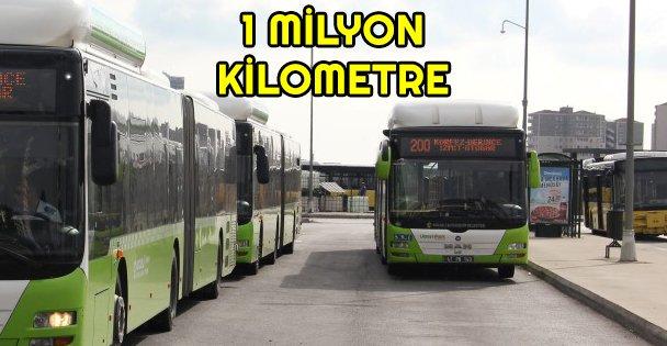 Hat 200 araçları 1 milyon kilometreyi devirdi