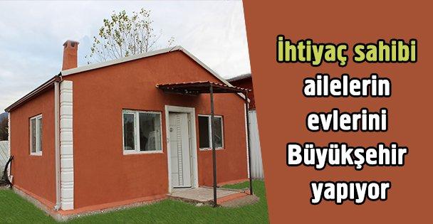 Büyükşehir'den ihtiyaç sahiplerine ev