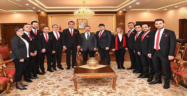 İMO Yönetimi, Vali Aksoy'u Ziyaret Etti