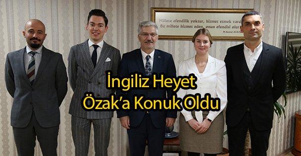 İngiliz Heyet Özak'a Konuk Oldu
