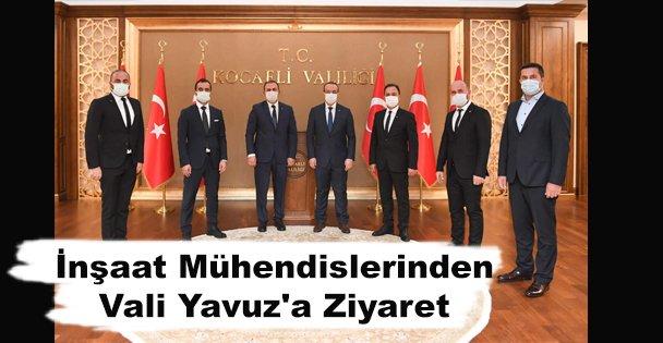 İnşaat Mühendislerinden Vali Yavuz'a Ziyaret