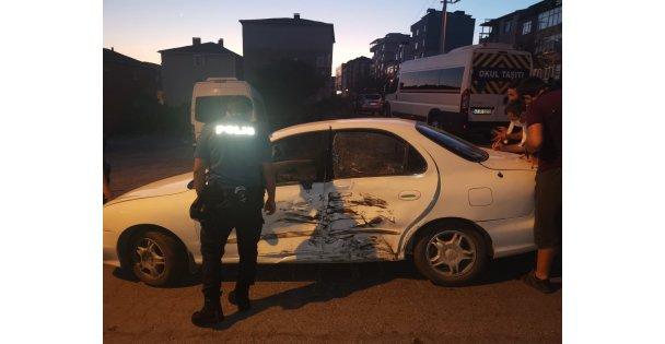 İşçi servisi ile otomobil çarpıştı: 1 yaralı