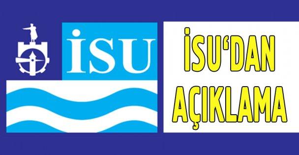İSU'dan su kesintisi açıklaması