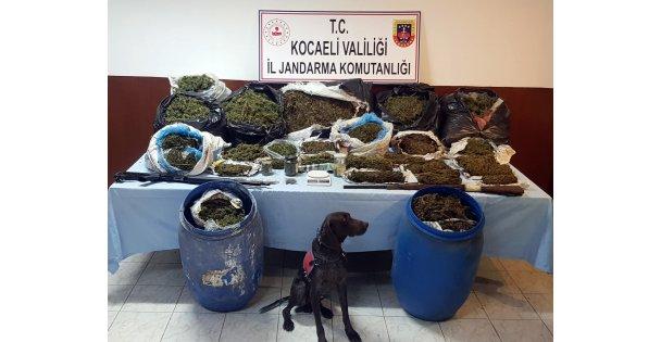 İzmit'te bir evde 61 kilogram esrar ele geçirildi