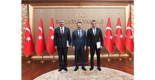 Kaan Yıkılmaz ve Mehmet Karakaş Sayın Valimize Veda Ziyaretinde