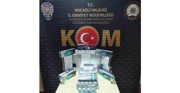 Kaçak sigara operasyonunda 350 paket sigara ele geçirildi