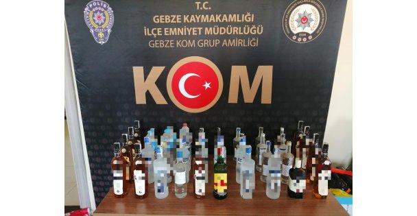 Kaçak ve sahte içki operasyonunda 3 şüpheli yakalandı