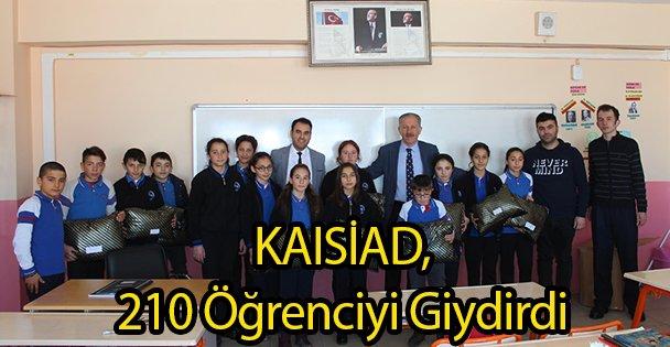 KAISİAD, 210 Öğrenciyi Giydirdi