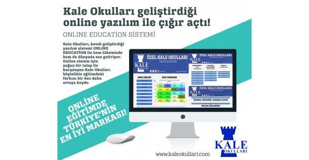 Kale Okulları kendi geliştirdiği online yazılım ile çığır açtı!