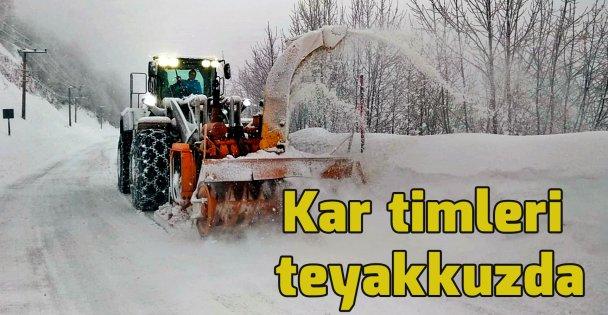 Kar Timleri karla mücadeleye hazır