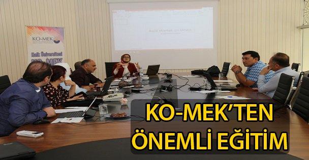 KO-MEK'ten İl Sağlık Müdürlüğü'ne önemli eğitim