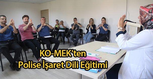KO-MEK'ten Polise İşaret Dili Eğitimi