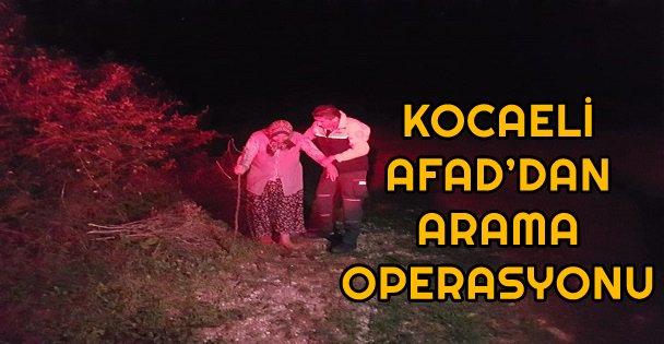 Kocaeli Afad'dan Arama Operasyonu