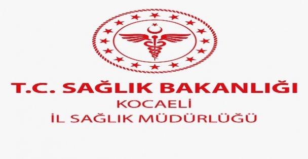 Kocaeli İl Sağlık Müdürlüğü: