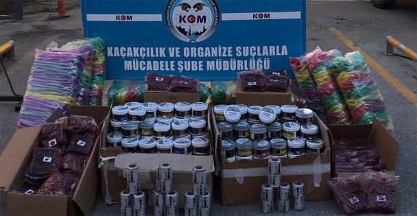 Kocaeli'de 190 kilogram kaçak nargile tütünü yakalandı