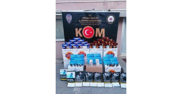 Kocaeli'de 5 İş Yerine Kaçak Tütün Operasyonu Düzenlendi