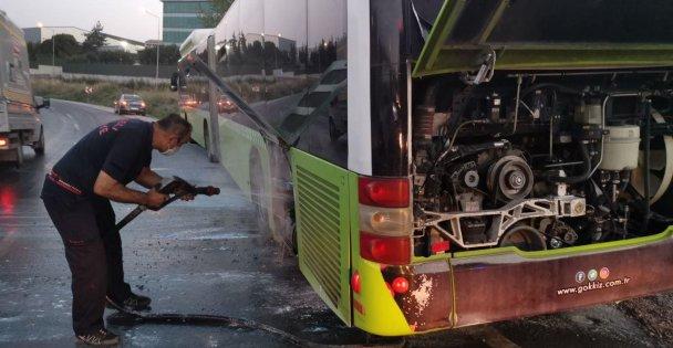 Kocaeli'de halk otobüsünde yangın