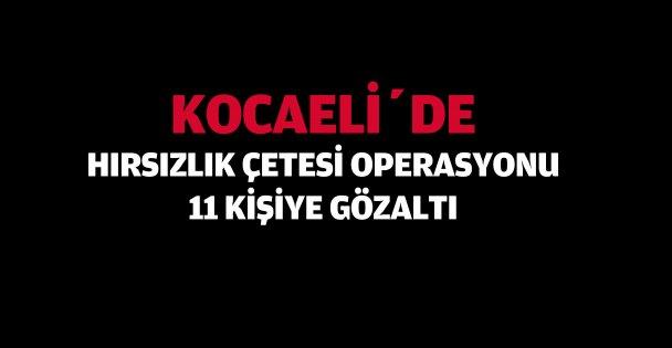 Kocaeli'de  hırsızlık çetesi operasyonu: 11 gözaltı