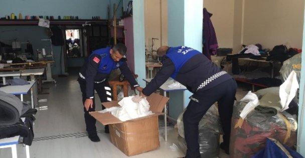 Kocaeli'de kaçak üretilen 11 bin maske ele geçirildi