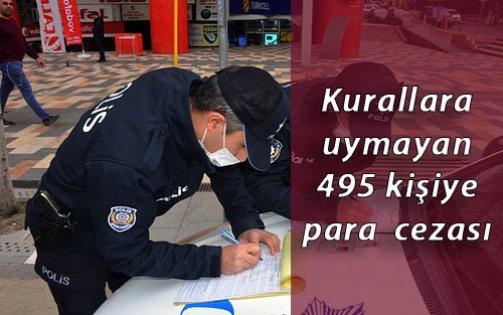 Kocaeli'de Kovid-19 tedbirlerine uymayan 495 kişiye para cezası