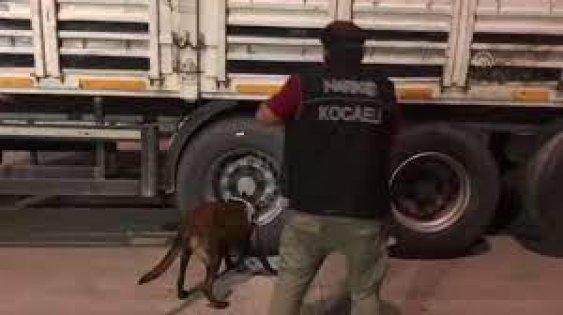 Kocaeli'de tırda 21 kilo 600 gram uyuşturucu ele geçirildi