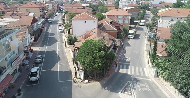 Köseköy'de caddeleri artık daha konforlu