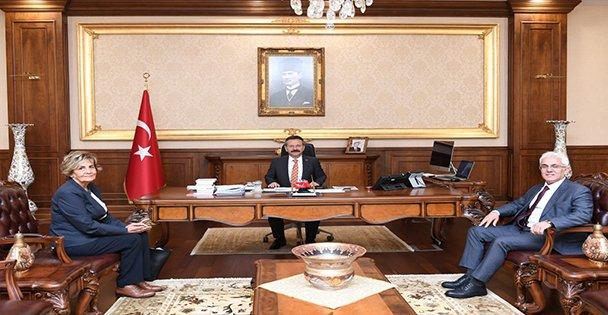 Kuzey Marmara Otoyolu Genel Müdürü ve Anadolu Otoyolu İşletme Müdürün'den Valimize Ziyaret Etti