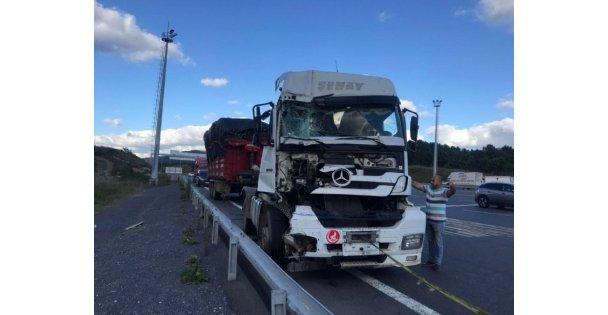 Kuzey Marmara Otoyolu'nda otomobil ile tırın çarpışması sonucu 1 kişi öldü