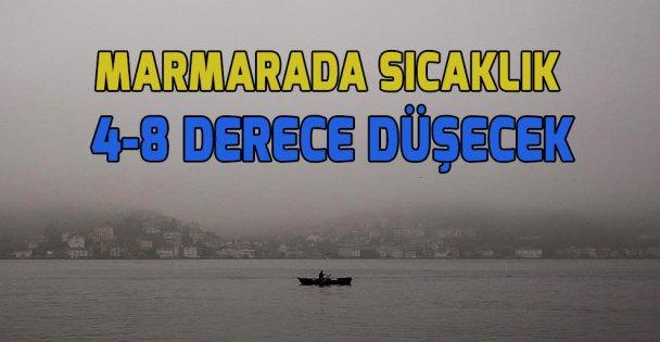 Marmara'da sıcaklık 4-8 derece azalacak