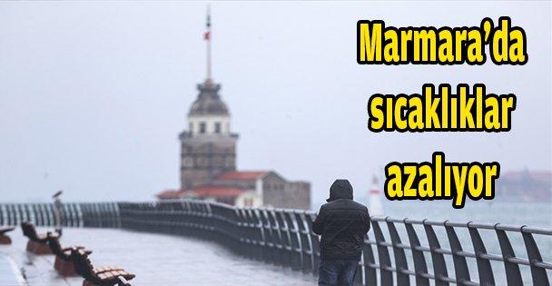 Marmara'da sıcaklıklar azalıyor