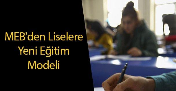 MEB'den Liselere Yeni Eğitim Modeli