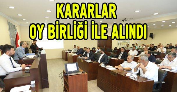 Meclis kararları oy birliği ile alındı