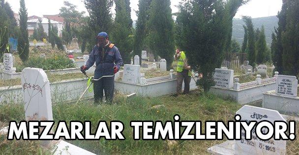 Mezarlar temizleniyor!