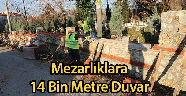 Mezarlıklara 14 Bin Metre Duvar